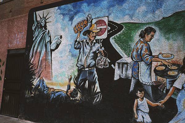 immigrant mural