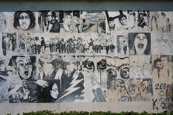 Moratorium the black and white mural mural for Black and white mural