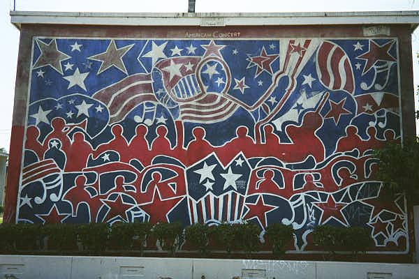 American concert mural for Concerts at the mural