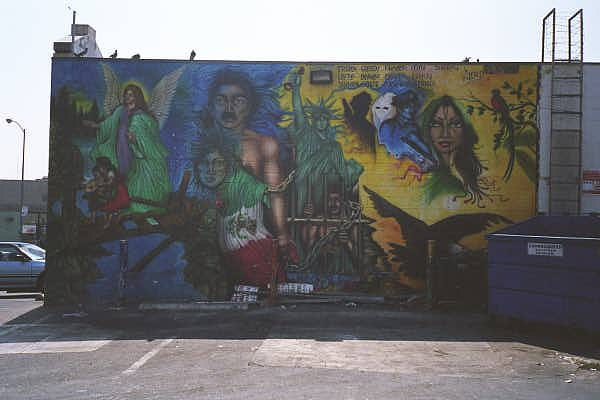 La vida loca mural for 18th street gang mural