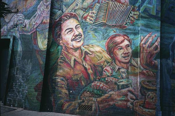 El corrido de boyle heights mural for Cesar chavez mural