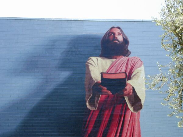 The word mural for Biola jesus mural