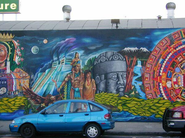 Mexico-Tenochitlan - The Wall That Talks mural