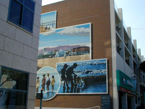 Santa monica beach mural for Cox paint santa monica