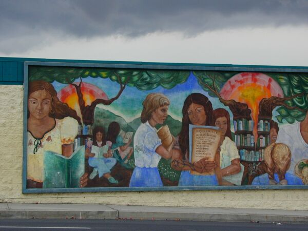 Tree of knowledge a k a read mural for Anthony quinn mural