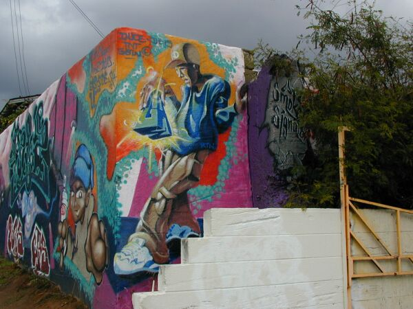 Lost angels smoke signals mural for Cesar chavez mural