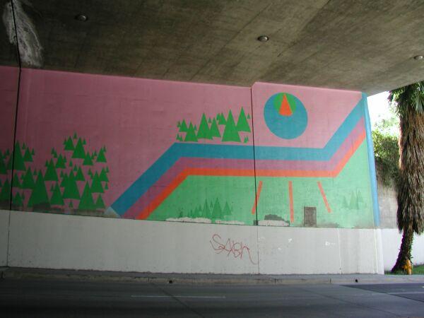 Blue moon trilogy mural for Blue moon mural