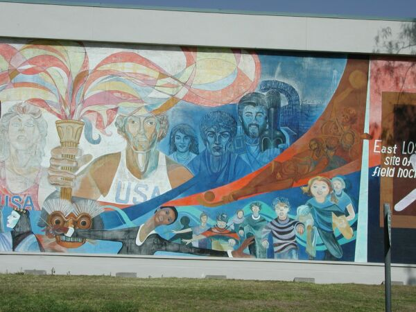 Las olimpiades mural for Cesar chavez mural